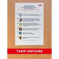 Panneau d'affichage de protection des salariés BTP covid-19
